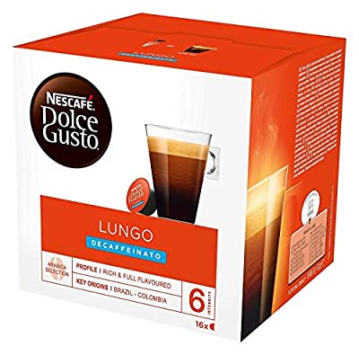 Nescafé Dolce Gusto Lungo Decaff Coffee Pods, 16 Capsules (Pack of 3 - Total 48 Capsules, 48 Servings) from Nescafe Dolce Gusto