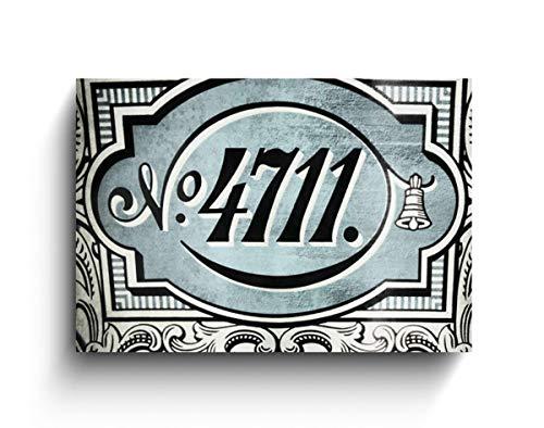 4711 Logo, Foto auf Holz, verschiedene Größen, Wanddeko, Fotodruck, Geschenk, Holzdeko, Köln