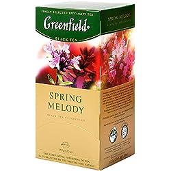 Greenfield Schwarzer Tee, Feder Melodie, 25 Teebeutel in einer Box [10er Pack]
