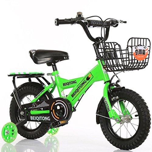 10 Größe Mädchen Für Ringe 9 (sheng Kinderfahrrad 3-10 Jahre alten Kinderwagen Junge Mädchen 12-14 Zoll Fahrrad blau ( Farbe : Grün , größe : 14inch ))