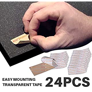 Ace Punch 24 Pieces DIY Easy Quick Sticky Double-Sided Clear High Adhesive Mounting Tape Tabs