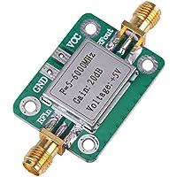 Amplificador de RF Módulo, Akozon 5-6000MHz RF Amplificador de Banda Ancha Módulo de Radio 20 dB ancha RF VHF UHF