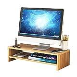 Support De Moniteur De Table À 2 Niveaux - Réhausseur D'écran D'ordinateur Avec...
