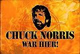 Schatzmix Chuck Norris war Hier! Lustiges Metal Sign deko Schild Blech Garten