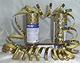 NEU Luftschlange Holographie gold, 7 mm x 4 m
