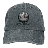 ShixiaoCC Dream Theater Train of Thought Adjustable Camper Cotton Washed Denim Cap Gray