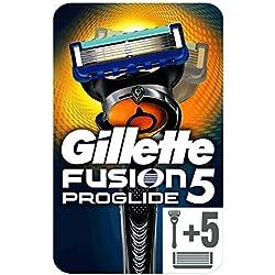 Gillette Fusion5 ProGlide - Maquinilla de Afeitar con 6 Cuchillas de Afeitar, Paquete Apto para el Buzón de Correos