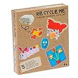 Re Cycle Me-recycleme defg1010bastel Divertimento per 5Modelli (Maschera, Pesce, Gufo, Bruco, Fiore)