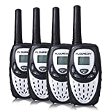 FLOUREON 4X PMR Funkger�t Walkie Talkies 8 Kan�le Walki Talki 2-Wege Radio mit LC-Display Silber Bild