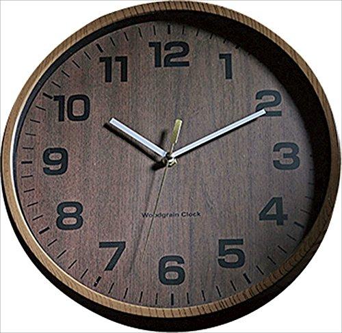 KAKUSEE Holzmaserung Retro Uhr Wanduhr aus Japan wc1989