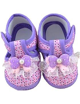Sannysis Baby-Bowknot weiche Krippe Schuhe