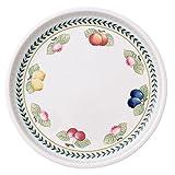 Villeroy & Boch French Garden Servierplatte, 26 cm, Premium Porzellan, Weiß/Bunt