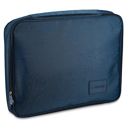 Navaris Borsa per camicie - Shirt Organizer per camicie perfette anche in viaggio - ideale per viaggi brevi e di lavoro - blu scuro