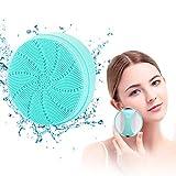 MANLI Elektrische Gesichtsreinigungsbürste, Anti-Aging Porenreinigen Silikon Gesichtsbürste, Gesichtsreiniger Reinigungsbürste mit Sonic Vibration für Alle Hauttype Wasserdicht Wiederaufladbar