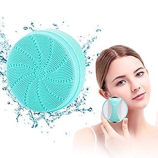 Limpiador Facial Silicona Eléctrico Vibración Ultrasónico Cepillo Masajeador Para la Cara Limpiador Profundo de Poros Exfoliante Anti acné Impermeable USB Recargable Para Todo Tipo de Pieles