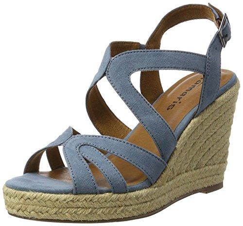 Tamaris 28342, Women's Wedge Heels Sandals, Blue (Denim 802), 3 UK (36 EU)