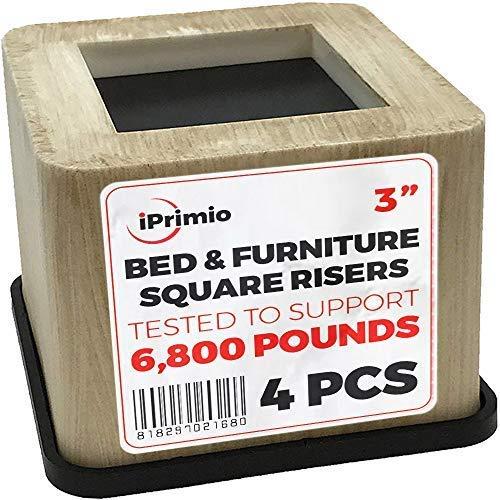 New Bambus (ABS Kunststoff) Bett. Schreibtisch, Couch, Stuhl Riser/Lift (Pat. Pending) stärksten nicht Risse, Gummi unten nicht kratzen Böden, Ständer Assist, unterstützt + 6.800Pfund (4, Bambus) (Schreibtisch Bett Stuhl)