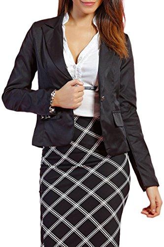 INFINIE PASSION - bouton noir - Veste tailleur noire Noir