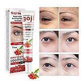 bulary 35g Goji Eye Creme Rot Feuchtigkeitsspender Eye Cream Anti Aging Anti Falten Anti Müdigkeit entfernen Eye Bag Dark Circle Haut Pflege verbessert Haut