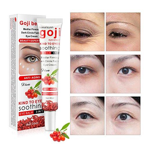 bulary 35g Goji Eye Creme Rot Feuchtigkeitsspender Eye Cream Anti Aging Anti Falten Anti Müdigkeit entfernen Eye Bag Dark Circle Haut Pflege verbessert Haut (Bag Dark Eye)
