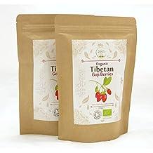 Zen Valley Organic Raw Goji Berries 500g (250g x 2), from Tibetan Plateau, certified by Soil Association