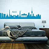 denoda Berlin Skyline - Wandtattoo Gold 336 x 100 cm (Wandsticker Wanddekoration Wohndeko Wohnzimmer Kinderzimmer Schlafzimmer Wand Aufkleber)