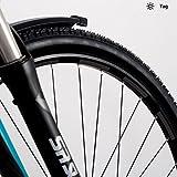 Motoking Fahrrad-Reflektorenaufkleber - Schwarz - 26 Aufkleber im Set - Breite: 7 mm - reflektierende Felgenaufkleber für Trekkingbike-, Fahrradfelgen & mehr