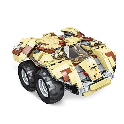 zeugschloss Auto - DIY Building Construction Batmobile Statten Sie ein Set Modelle mit Griff für Geschenke Geburtstag Weihnachten gelb ()