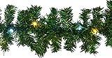 Gartenpirat Tannengirlande 8,1 m 120 LED-Mix kaltweiß/warmweiß für Weihnachten