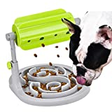 ZXYSHOP Interactive Dog Cat Food Educational Toys Slow Feeding Fun Pet Game Inflatable Pet IQ Training Bowl Stop Board Anti-Swallowing Entertainment Smart Animals Foraging,Green