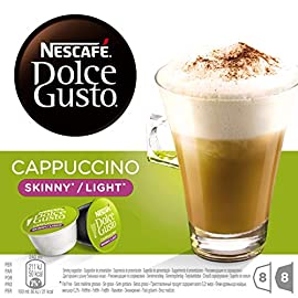 NESCAFÉ Dolce Gusto Cappuccino Skinny/Light Coffee Pods, 16 Capsules (24 Servings, Pack of 3, Total 48 Capsules)