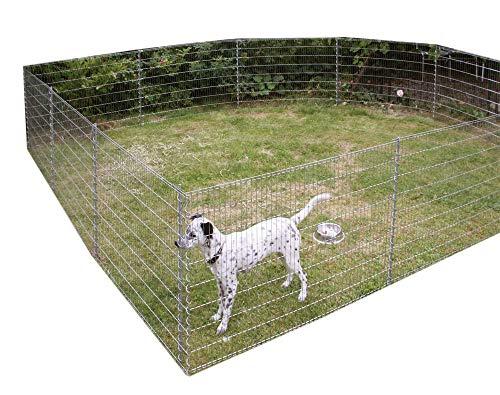 Bellissa - Set di recinzioni protettive per stagni, zincate
