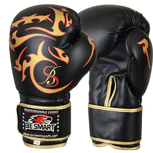 Pro Leder Boxhandschuhe, MMA, Sparring, Boxsack, Muay Thai Training Handschuhe Golden Tattoo 397 g