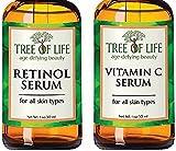 Anti Aging Serum Two-Pack - 72% ORGANIC - Vitamin C Serum - Retinol