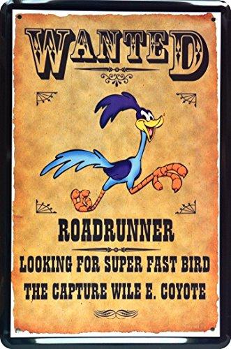 plaque-de-wanted-road-runner-20-x-30-cm-metal-sign-xwant-ed68