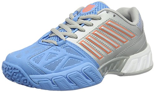 K-Swiss Performance Bigshot Light 3 Jnr Omni, Zapatillas de Tenis Para Niñas, Multicolor (Silver/Blue/Coral), 37.5 EU