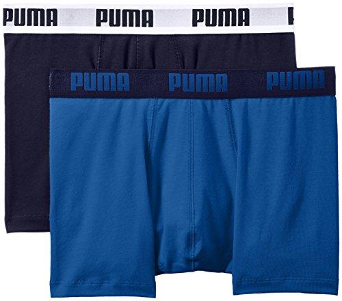 PUMA Herren Basic Boxer 2P Unterwäsche, Blau (True Blue), S