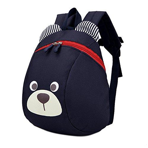Luerme Kinderrucksack Kleinkind Jungen Mädchen Kindergartentasche Niedlich Cartoon Bär Backpack Schultasche Rucksack (Schwarz)