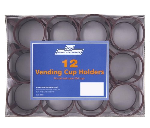 Price comparison product image CPD RY0308 Robinson Young Vending Cup Holders, Brown,  Pack of 12