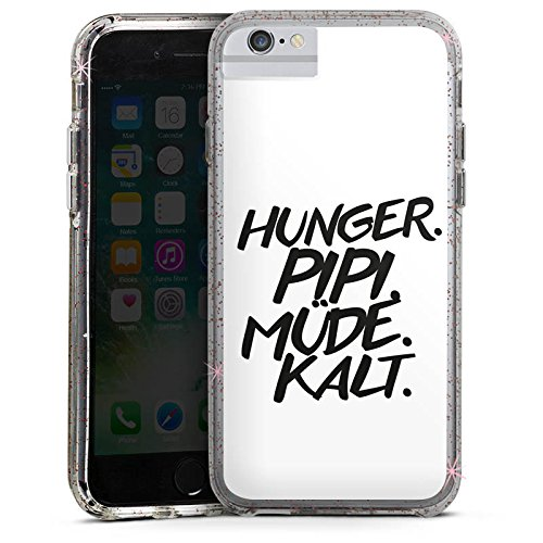 Apple iPhone 6 Plus Bumper Hülle Bumper Case Glitzer Hülle Hunger Kalt Phrases Bumper Case Glitzer rose gold