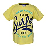 Beanie Bugs Half Sleeves Light Yellow Printed T-Shirt for Boys(4-5 Years)