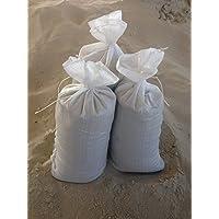 Sandsäcke 25 er Pack Hochwassersäcke strapazierfähig und reißfest Maße: 30 x 60 cm Farbe: weiß mit Zugband