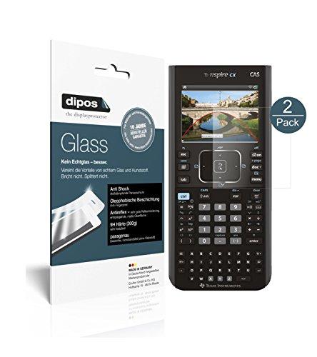 Texas Instruments TI Nspire CX CAS Taschenrechner Schutzfolie matt - 2x dipos Glass Panzerfolie 9H Folie Antireflex Kunststoffglas
