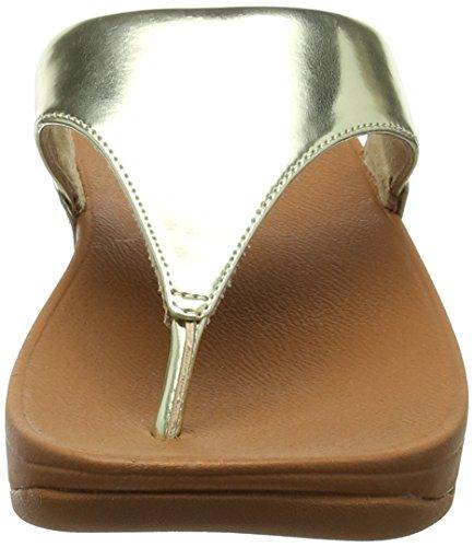 Mirror Toe Sandali Donna Gold Punta Fitflop Aperta Gold Mirror Sandals Thong Lulu 5aqXwI