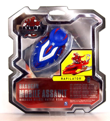 BAKUGAN 46186 Gundalian Invaders Mobile Assault Deluxe Battle Gear Rapilator Blue Includes 1 Mobile Assault, 2 Ability Cards and 1 Metal Gate Card
