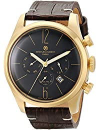 Charles-Hubert, Paris Men's 3959-B Premium Collection Analog Display Japanese Quartz Brown Watch