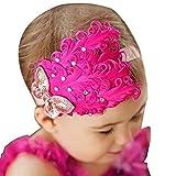 WeiMay Bandeau Cheveux Bébé Filles élastique Serre-tête Photo Accessoire Rouge