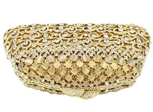 Borsa Sacchetto Da Diamante Pochette Donna Sera Borsetta Portafoglio Festa Cerimonia Frizioni Eleganti Oro Gold