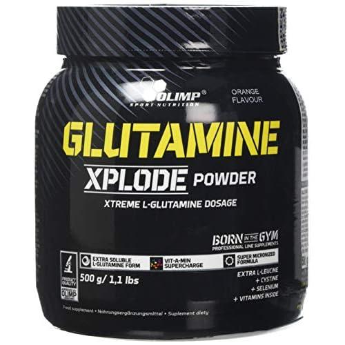 51hrfziDnQL. SS500  - Olimp Labs Glutamine Xplode Powder, Orange Flavour, 500 g