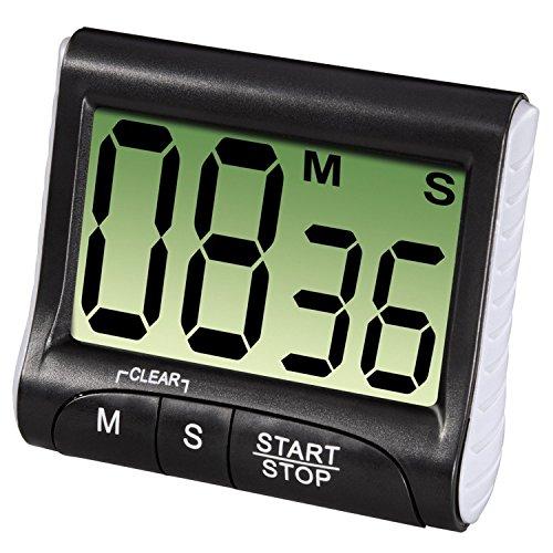 Qinlee Digitaler Timer Küchen Timer Kochen Timer Küchenwecker Küche zum Kochen Backen Digitaler Timer (Schwarz)
